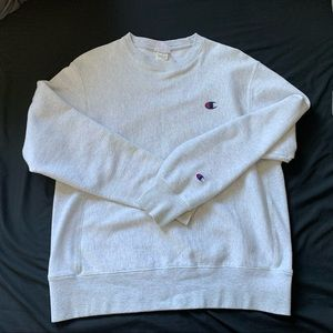 Champion Reverse Weave Sweatshirt Light Grey